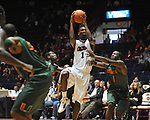 "Ole Miss' Terrance Henry (1) vs. Miami at the C.M. ""Tad"" Smith Coliseum in Oxford, Miss. on Friday, November 25, 2011. Ole Miss won 64-61 in overtime."
