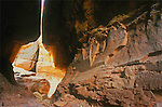 The Joint Trail in Canyonlands N.P. passes through an amazing sandstone tunnel, which also has been named The Joint. This is a fantastic place to cool off and take in the sights of Chesler Park.