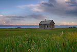 Idaho, Southeastern, Bear Lake. An old homesteaders cabin still stands on the shores of Bear Lake.