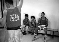 Roma 21 Settembre 1997.Campionati Regionali  Torneo Novizi.Sandro Casamonica (Laima Team) in attesa di salire sul ring