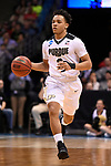 MILWAUKEE, WI - MARCH 18: Purdue Boilermakers guard Carsen Edwards (3) looks up-court during the first half of the 2017 NCAA Men's Basketball Tournament held at BMO Harris Bradley Center on March 18, 2017 in Milwaukee, Wisconsin. (Photo by Jamie Schwaberow/NCAA Photos via Getty Images)