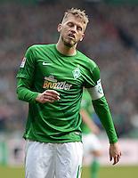 FUSSBALL   1. BUNDESLIGA   SAISON 2012/2013    28. SPIELTAG SV Werder Bremen - FC Schalke 04                          06.04.2013 Aaron Hunt (SV Werder Bremen) ist enttaeuscht