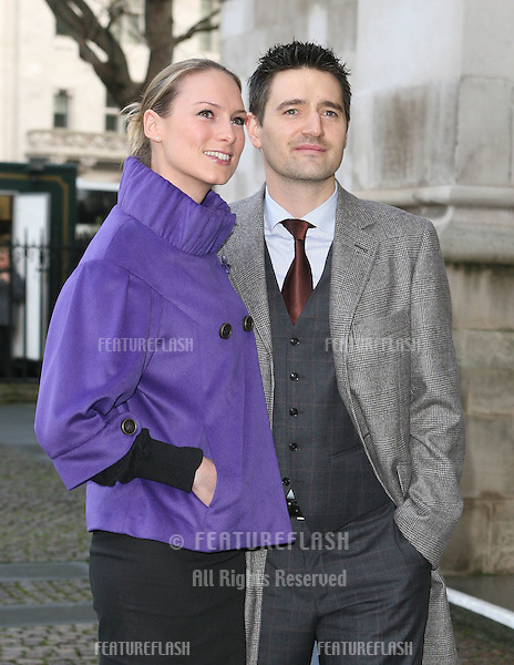 Tom Chambers and wife Clare arriving for Children Of Courage service, Westminster Abbey, London. 09/12/2009. Picture by:   Alexandra Glen / Featureflash