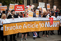 "05.09.2016 - ""Invoke Article 50 Now!"" - Pro-Brexit Demonstration"