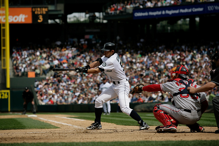 27 June 2007: Seattle Mariners vs Boston Red Sox at Safeco Park in Seattle, Washington.