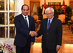Egypt's President Abdel Fattah al-Sisi meets with Singaporean counterpart Tony Tan Keng Yam at the Istana presidential palace in Singapore on August 31, 2015. President Abdel Fattah al-Sisi is on a three-day state visit at the invitation of President Tony Tan Keng Yam. Photo by Egyptian President Office