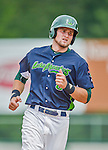 9 July 2015: Vermont Lake Monsters outfielder Seth Brown in action against the Mahoning Valley Scrappers at Centennial Field in Burlington, Vermont. The Lake Monsters rallied to tie the game 4-4 in the bottom of the 9th, but fell to the Scrappers 8-4 in 12 innings of NY Penn League play. Mandatory Credit: Ed Wolfstein Photo *** RAW Image File Available ****