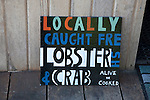Lobster Sign at the Seafood Cabin in Skipness, Scotland