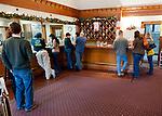 Visitors at Horton Vineyards' tasting bar.