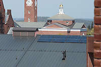 20130502 Solar Panels on roof of Central Heating Plant