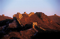 JANUARY 10TH 1999-Jinshanling, China-A remote section of the Great Wall outside of Beijing, twists it's way into the horizon.  Photograph by Daniel J. Groshong/Tayo Photo Group