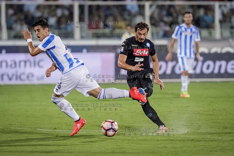 Manolo Gabbiadini (Napoli) during the Italian Serie A football match Pescara vs SSC Napoli on August 21, 2016, in Pescara, Italy. Photo by Adamo Di Loreto