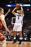 MILWAUKEE, WI - MARCH 18: Purdue Boilermakers guard Carsen Edwards (3) shoots a three point jumper during the first half of the 2017 NCAA Men's Basketball Tournament held at BMO Harris Bradley Center on March 18, 2017 in Milwaukee, Wisconsin. (Photo by Jamie Schwaberow/NCAA Photos via Getty Images)