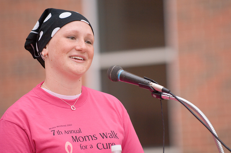 18211Mom's Weekend 2007 : Walk for a Cure....Monica Berger talks about her own struggle with Breast Cancer