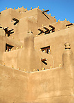 North America, USA, New Mexico, Santa Fe. Adobe Inn at Loretto