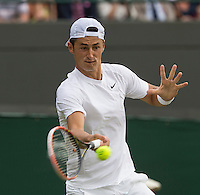 BERNARD TOMIC (AUS)<br /> <br /> The Championships Wimbledon 2014 - The All England Lawn Tennis Club -  London - UK -  ATP - ITF - WTA-2014  - Grand Slam - Great Britain -  25th June 2014. <br /> <br /> &copy; AMN IMAGES