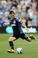 Bobby Convey San JoseEarthquakes defender in action...Sporting KC defeated San Jose Earthquakes 1-0 at LIVESTRONG Sporting Park, Kansas City ,Kansas,..