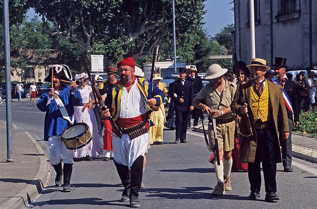 Vaucluse, France. Fete de la Tarasque a Tartarin de Tarascon *** Tarasque festival at Tartarin de Tarascon. France, Vaucluse.