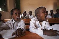 Children are taught at a Koranic school in the tiny village of Jeenyolaaye in southern Somaliland..