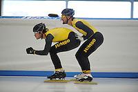SCHAATSEN: LEEUWARDEN: 24-06-2016, Elfstedenhal, training zomerijs, Hein Otterspeer en Kjeld Nuis, ©foto Martin de Jong