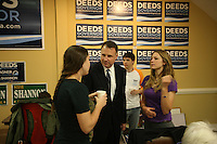 Creigh Deeds last minute campaigning as the democratic governor candidate for Virginia in Charlottesville, Va.  (Photo/Andrew Shurtleff)