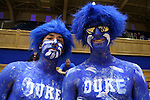 22 November 2015: Duke fans, also known as Cameron Crazies. The Duke University Blue Devils hosted the United States Military Academy at West Point Army Black Knights at Cameron Indoor Stadium in Durham, North Carolina in a 2015-16 NCAA Women's Basketball Exhibition game. Duke won the game 72-61.
