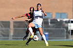 12 November 2016: North Carolina's Zoe Redei (15) and Liberty's Hadley Jones (behind). The University of North Carolina Tar Heels played the Liberty University Flames at Fetzer Field in Chapel Hill, North Carolina in a 2016 NCAA Division I Women's Soccer Tournament First Round match. UNC won the game 3-0