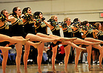 16 January 2012: The University of Vermont Dance Team entertains the fans at a game against the University of Maine Black Bears at Patrick Gymnasium in Burlington, Vermont. The Catamounts defeated the Black Bears 79-65 notching their 10th win of the season. Mandatory Credit: Ed Wolfstein Photo