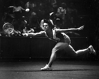 Tennis star Billie Jean King (1987 photo by Ron Riesterer)