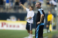 Aston Villa manager Paul Lambert during a match between Aston Villa FC and Philadelphia Union at PPL Park in Chester, Pennsylvania, USA on Wednesday July 18, 2012. (photo - Mat Boyle)