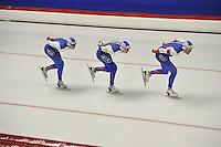 SPEED SKATING: INZELL: 04-12-2015, Max Aicher Arena, ISU World Cup, Team Pursuit Men, Team RUS, ©foto Martin de Jong