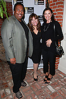 LOS ANGELES, CA, USA - OCTOBER 21: Leslie David Baker, Robin Bronk, Mimi Rodgers arrive at The Creative Coalition's 'Art of Discovery' Los Angeles Launch Party held at the Home of Lawrence Bender on October 21, 2014 in Los Angeles, California, United States. (Photo by David Acosta/Celebrity Monitor)