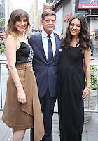 NEW YORK, NY-July 28:  Kathryn Hahn, Robert Simonds, Mila Kunis at STX Entertainment '& Bad Moms' cast  Ring The NASDAQ Closing Bell at Time Square New York. NY July 28, 2016. Credit:RW/MediaPunch