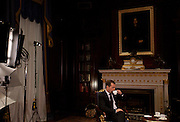 Russian Prime-Minister Dmitry Medvedev in his residence during an interview to Helsingin Sanomat