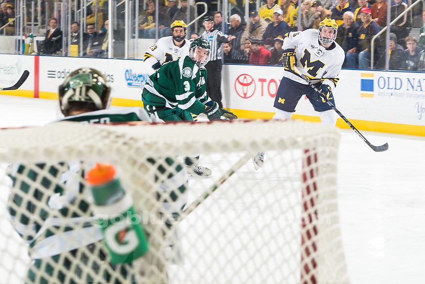 The University of Michigan men's hockey team, 7-0, victory over Dartmouth at Yost Ice Arena in Ann Arbor, Mich., on Nov. 27, 2015.