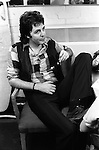 Paul and Linda McCartney Wings Tour  1975. Paul in rehearsal dressing room, Elstree London England.