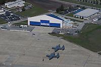 aerial photograph California National Air Guard Moffett Field, Mountain View, California
