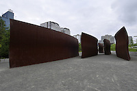 Wake, By Richard Serra, 2004, Olympic Sculpture Park run by Seattle Art Museum, Seattle, Washington, USA