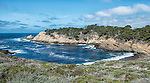 A beach and inlet at Point Lobos, on the California coast adjacent to Carmel-by-the-Sea.