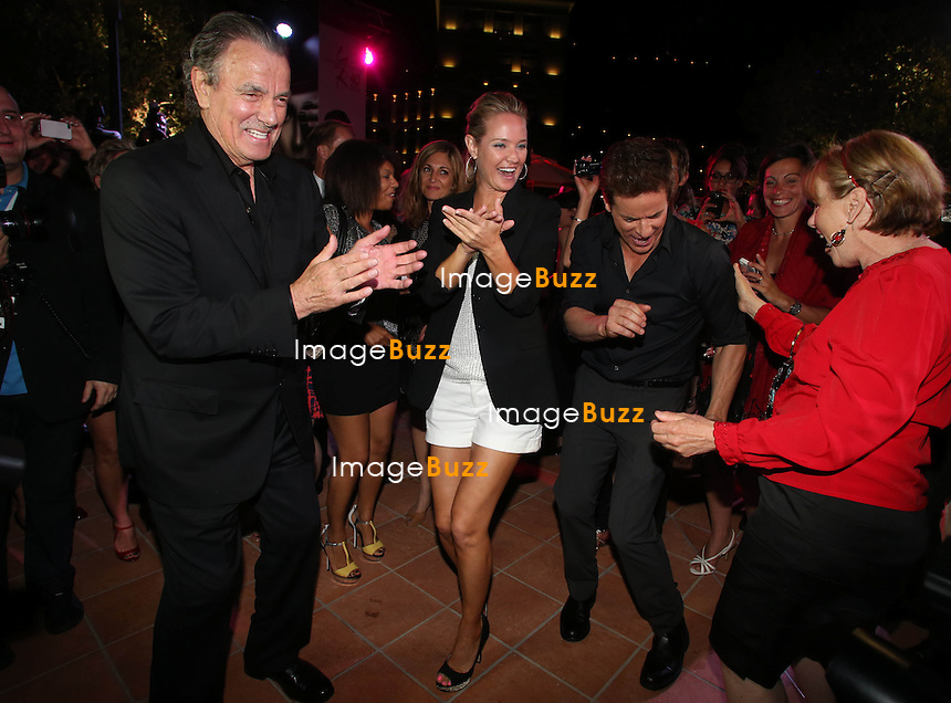 THE YOUNG AND THE RESTLESS 40TH ANNIVERSARY - June 10, 2013-53rd Monte-Carlo TV Festival. The Young and the Restless 40th anniversary party at the Monte-Carlo Bay hotel with Eric Braeden, Sharon Case, Daniel Goddard, Christian Leblanc, Joshua Morrow, Melody Thomas Scott and Tonya Lee Williams.