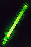 LUMINESCENCE CAUSED BY CHEMICAL REACTION<br /> Chemiluminescent Light Stick On Ray Pattern<br /> Luminescence or cool light is caused by the movement of electrons within a substance from more energetic states to less energetic states.