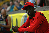Athletics - AVIVA Grand Prix - Birmingham..Teddy Tamgho in the Triple Jump Alexander Stadium.