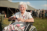 BNPS.co.uk (01202 558833)<br /> Pic: MichaelvanCaspel/BNPS<br /> <br /> ***Please Use Full Byline***<br /> <br /> Helen Wilson (93) with her Dutch Resistance Cross. The ceremony took place at Thompson Bridge, Grave, Netherlands. <br /> <br /> A resistance worker who survived capture, torture and a death sentence for helping to hide British airmen during the infamous Battle of Arnhem has finally been recognised for her heroism.<br /> <br /> Helen Willson, a British resident, has been presented with the prestigious Dutch Resistance Cross for her little-known acts of bravery 70 years ago.<br /> <br /> She was a member of a resistance cell that spied on the Germans, brought food to Jewish people in hiding and then assisted the British paratroopers during the Operation Market Garden in September 1944.