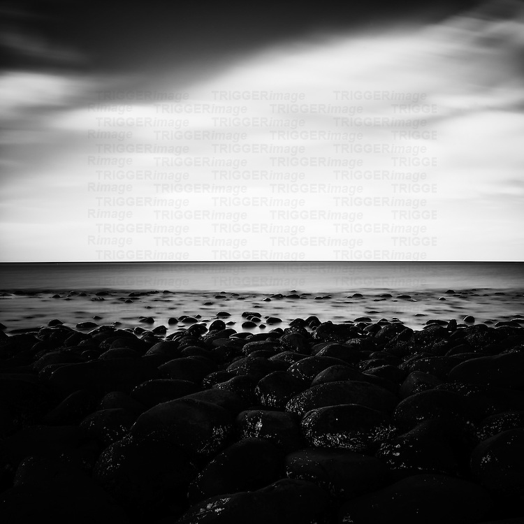 Northumberland Coastal Scene with Long Exposure