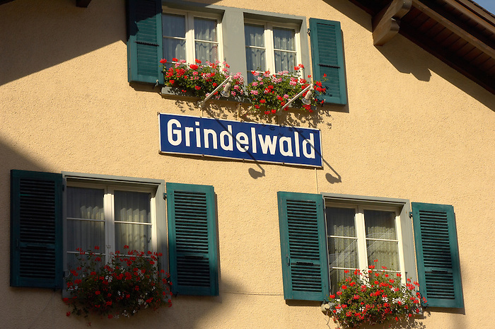 Grindelwald station sign - Swiss Alps