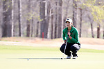 BROWNS SUMMIT, NC - APRIL 02: Notre Dame's Mia Ayer putts on the 15th hole. The third round of the Bryan National Collegiate Women's Golf Tournament was held on April 2, 2017, at the Bryan Park Champions Course in Browns Summit, NC.