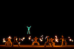 Firedancers perform before the of  burning of the man, Saturday night, Sept. 1, 2007 during the annual Burning Man Festival on the Black Rock Desert near Gerlach, Nev. This year's theme was The Green Man...Photo by David Calvert/Nevada Sagebrush
