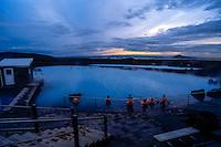 Iceland. Mývatn Nature Baths. Geothermal spa close to Myvatn.