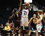"Ole Miss' Danielle McCray (21) vs. Central Michigan at C.M. ""Tad"" Smith Coliseum in Oxford, Miss. on Wednesday, December 14, 2011."