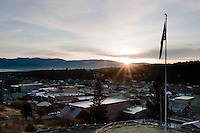 """Sunrise over Truckee""- This sunrise was photographed from near the Rocking Stone in Truckee, CA."